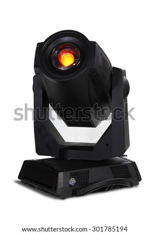 light moving head for event and concert stage on isolated background