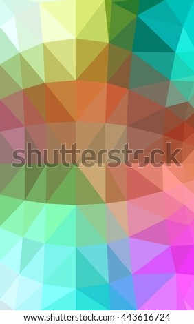 Light multicolor polygonal illustration, which consist of triangles. Triangular design for your business. Geometric background in Origami style with gradient.