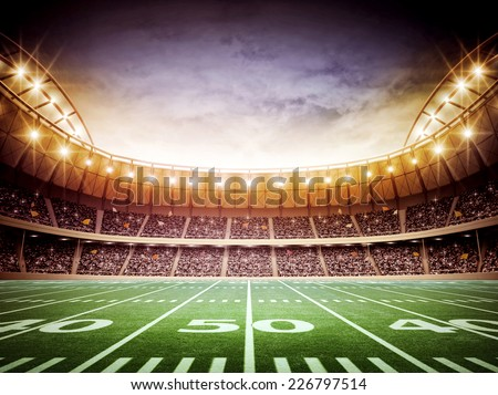 light of american stadium - stock photo