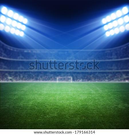 Light of Stadium - stock photo