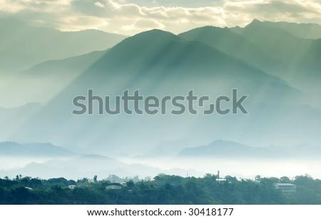 light of sun - stock photo