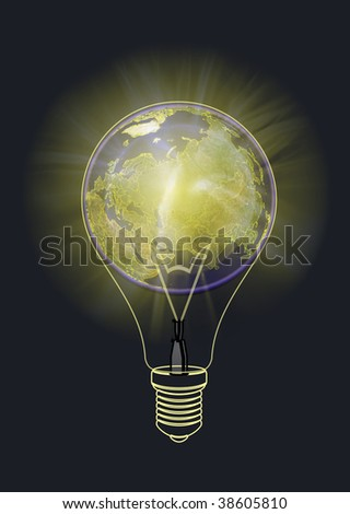 Light of the planet in space - stock photo