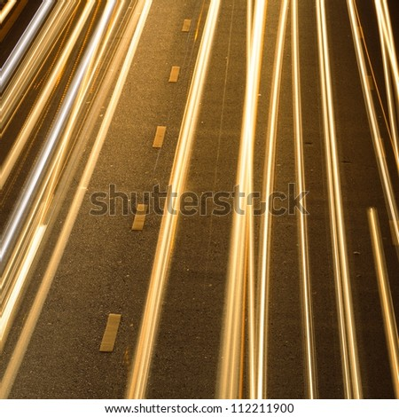 Light on the road. - stock photo