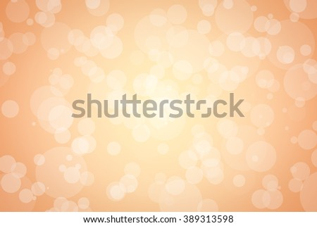 Light orange and yellow background with soft white bubbles floating around - stock photo