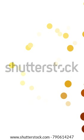 Light Orange vertical red banner with set of circles, dots. Donuts Background. Creative Design Template. Technological halftone illustration.