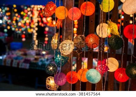 light party bokeh - stock photo