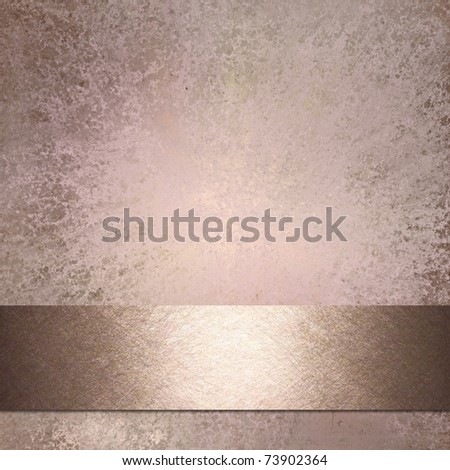 light pink grunge background with shiny ribbon stripe, texture, highlight, and copy space, for valentine's day or baby girl birth announcements - stock photo