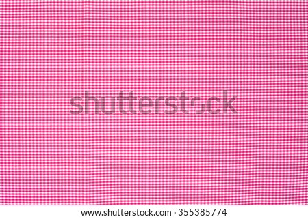 light pink  tablecloth texture, background with copy space (The pattern on this fabric is common in Thailand and is not subjected to copyright) - stock photo