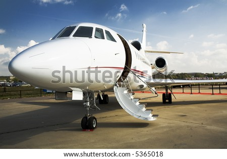 light plant on the airfield - stock photo