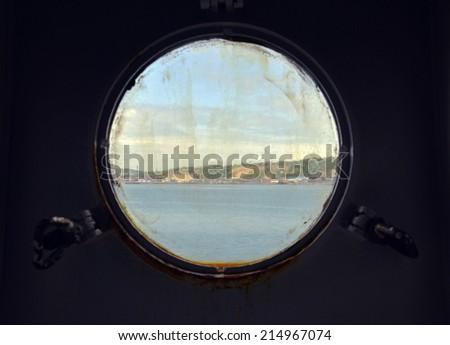 Light port and marine view - stock photo