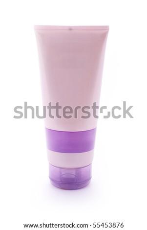 Light purple cosmetic cream tube - stock photo