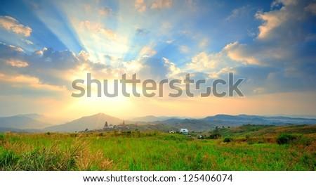 light ray - stock photo