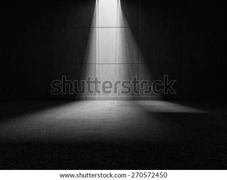 light ray 3D rendering - stock photo