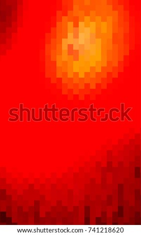 Light Red polygonal illustration consisting of rectangles. Rectangular design for your business. Creative geometric background in origami style with gradient.