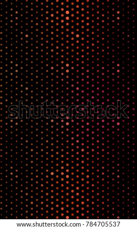 Light Red vertical illustration which consist of circles. Dotted gradient design for your business. Creative geometric background in halftone style with colored spots.