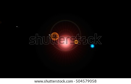 Light Reflection, Lighting Abstract Painting, Lighting Installation, Black Background, Light Flare