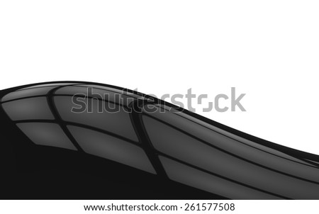 Light Reflections on Black Surface Background