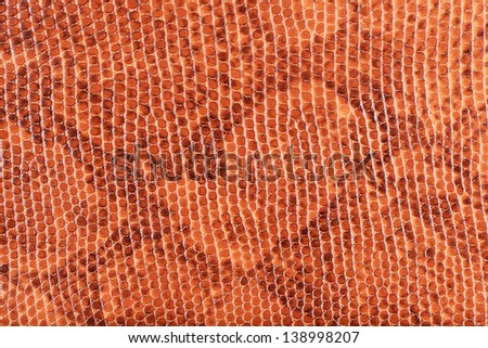 Light salmon synthetic leather with embossed texture background(piton)