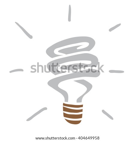 light saving bulb cartoon - stock photo