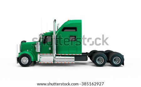 Light Sea Green american truck isolated on white background