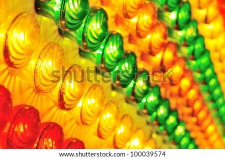 light show background in luna park - stock photo
