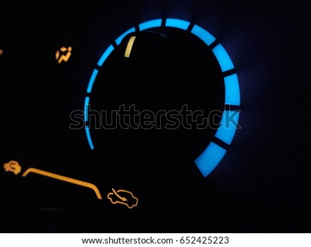 Light Show Signs Of Air Conditioning In Car At Night.