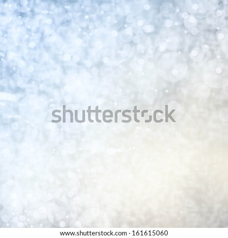 Light silver abstract background with twinkled magic holiday lights texture, soft color - stock photo