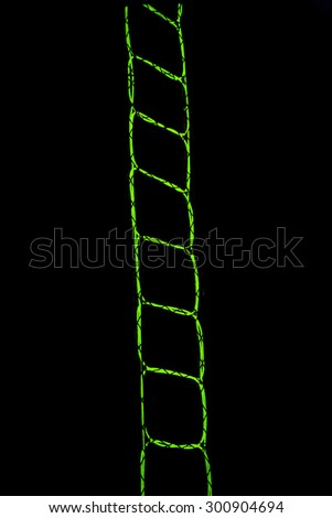 light stair in the dark - stock photo
