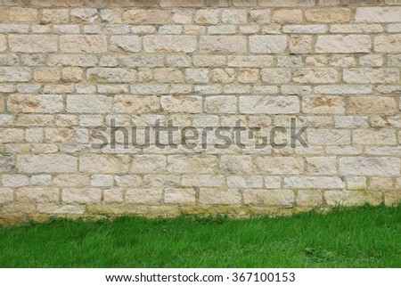 Light stone brick wall background
