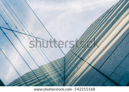 Light streaks hitting the corner of a building