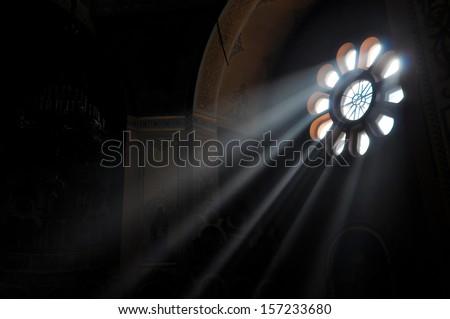 Light Stream through Window - stock photo