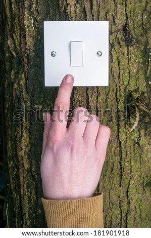 light switch environment concept  - stock photo