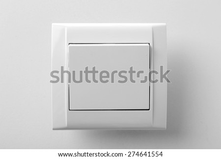 Light switch, isolated on white - stock photo