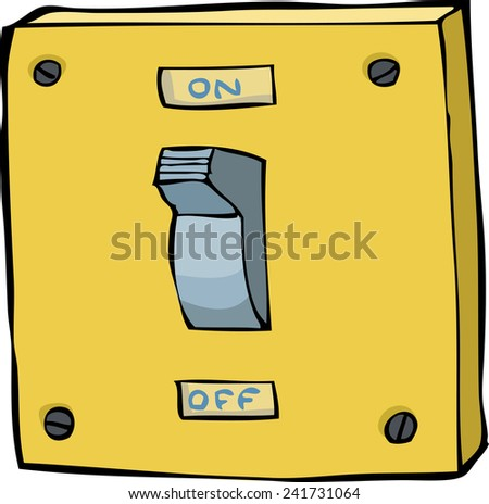 Light switch on a white background raster version - stock photo