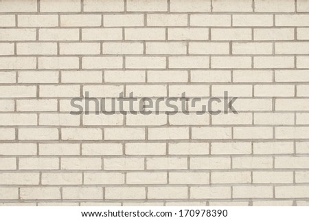 Light Tan Brick Wall as a Background - stock photo
