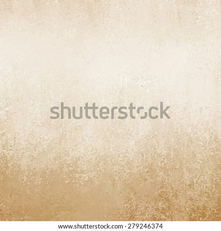 light tan brown background paper texture and grunge border - stock photo