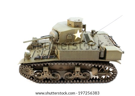 Light Tank M3 model with traces of exploitation