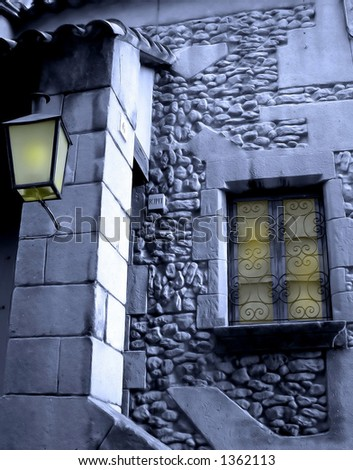 Light through windows - stock photo