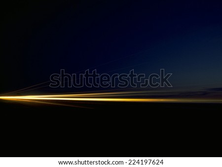 Light trails at night, blurred - stock photo