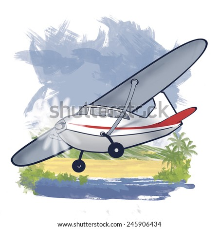 Light Utility Aircraft - stock photo