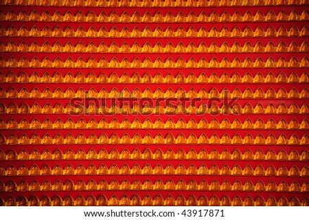 light wall for safe in chinese temple - stock photo
