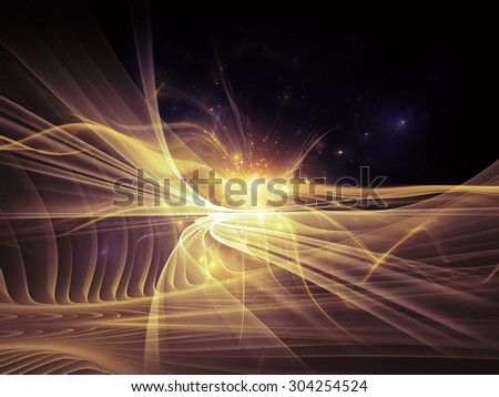 Light Waves series. Design made of fractal waves and motion trails to serve as backdrop for projects related to design, science and modern technologies