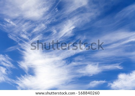 Light white clouds in the blue sky