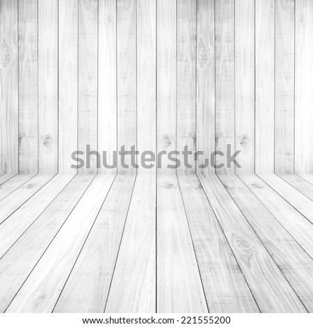 Light white floors wood planks texture background wallpaper. Stand for product showcase - stock photo