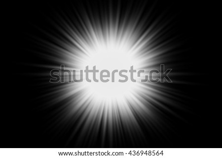 light with flare on dark background