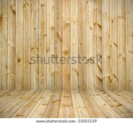 light wooden interior - stock photo