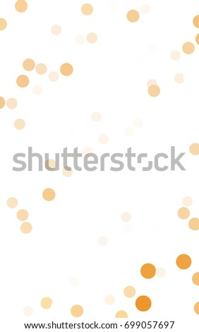 Light Yellow red banner with set of circles, dots. Donuts Background. Creative Design Template. Technological halftone illustration.