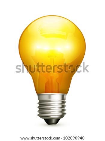 Lightbulb, bitmap copy - stock photo