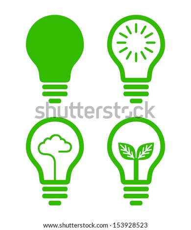 lightbulb  icon - green concept