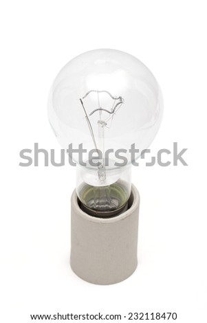 lightbulb on the white background - stock photo